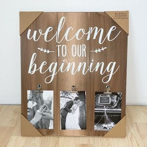"""Other - """"Welcome to our Beginning"""" Romantic Photo Frame"""